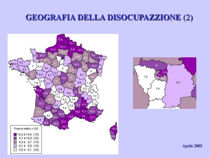 GEOGRAFIA DELLA DISOCUPAZZIONE