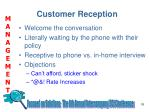 customer reception