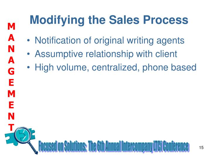 Modifying the Sales Process
