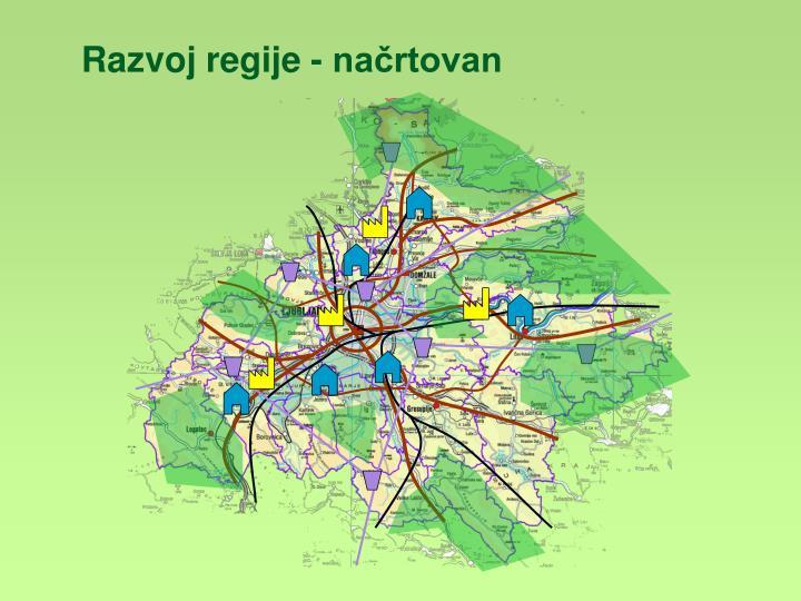 Razvoj regije - načrtovan