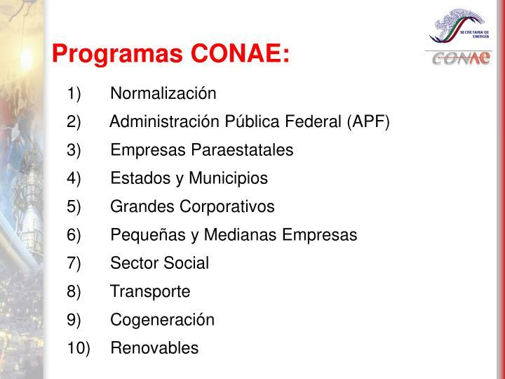 Programas CONAE: