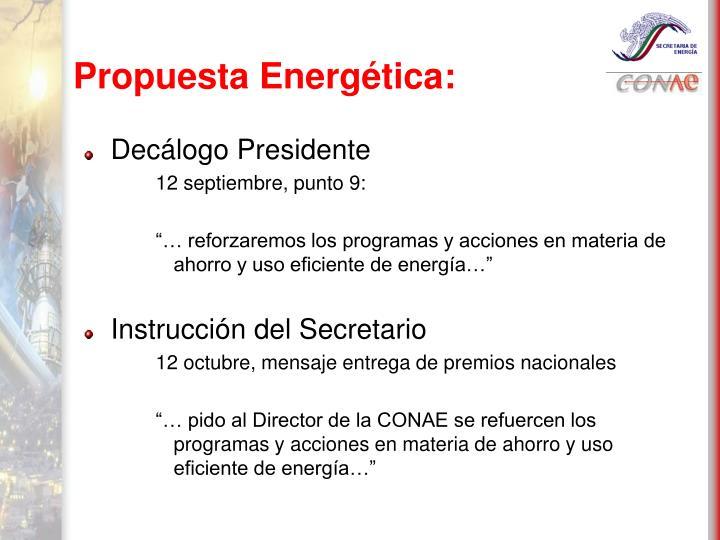 Propuesta Energética: