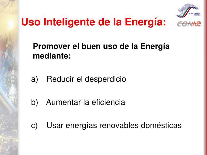 Uso Inteligente de la Energía: