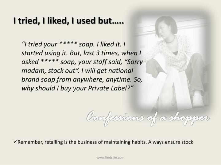 I tried, I liked, I used but…..