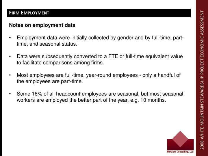 Firm Employment