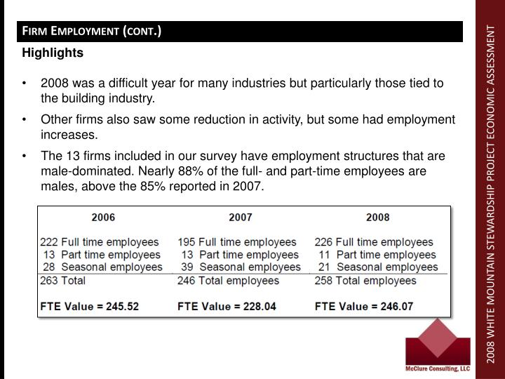 Firm Employment (cont.)