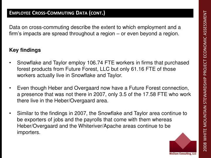 Employee Cross-Commuting Data (cont.)