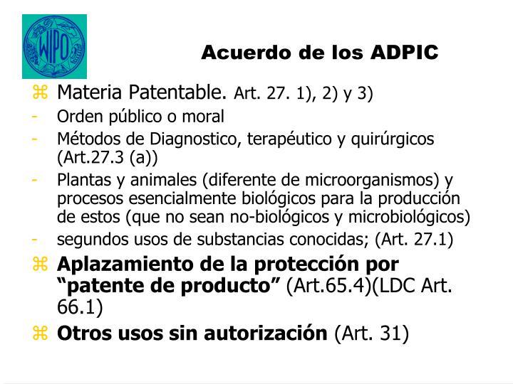 Acuerdo de los ADPIC