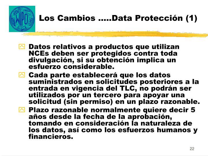 Los Cambios …..Data Protección (1)
