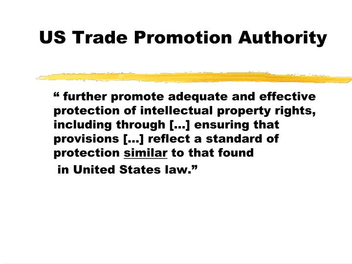 US Trade Promotion Authority