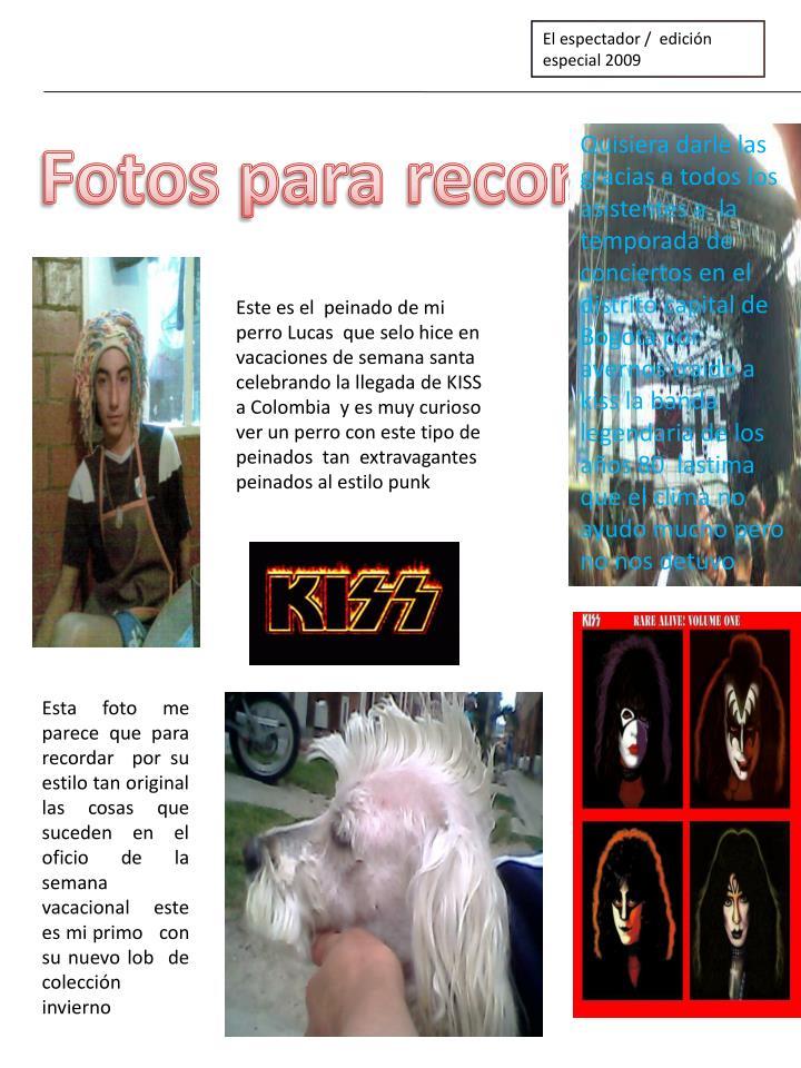 El espectador /  edición especial 2009