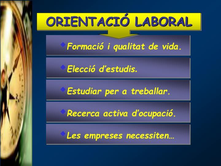 ORIENTACIÓ LABORAL