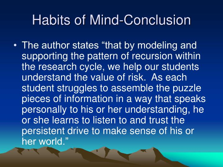 Habits of Mind-Conclusion