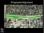 proposed alignment