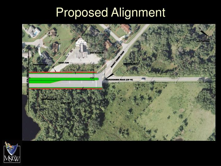 Proposed Alignment