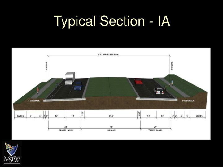 Typical Section - IA