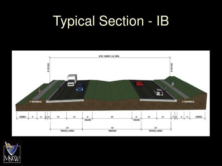 Typical Section - IB