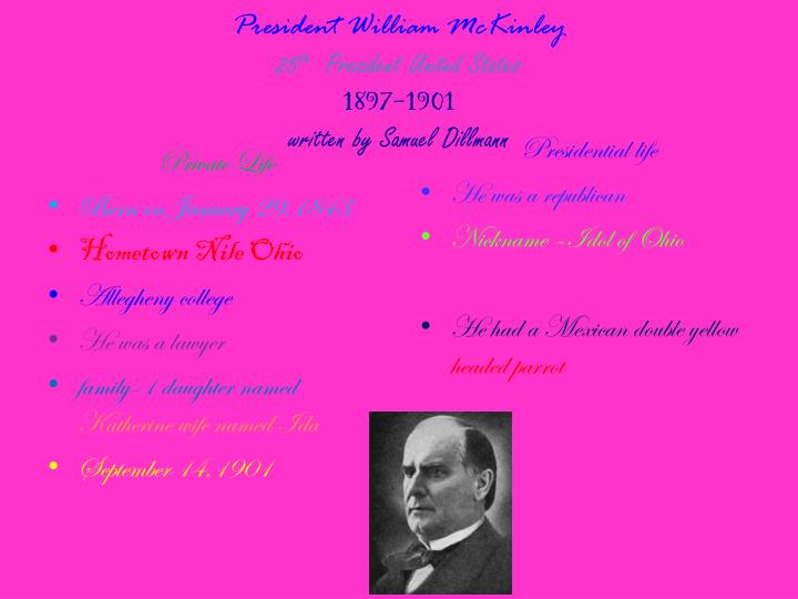 President William McKinley