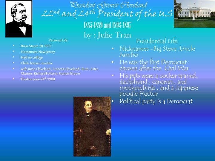 President Grover Cleveland
