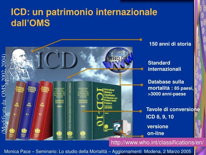 ICD: un patrimonio internazionale dall'OMS