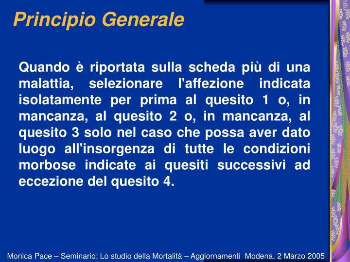 Principio Generale