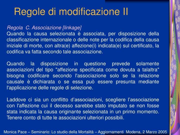 Regole di modificazione II