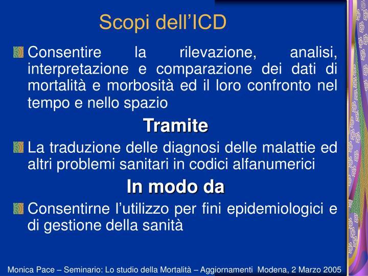 Scopi dell'ICD