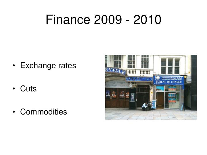 Finance 2009 - 2010