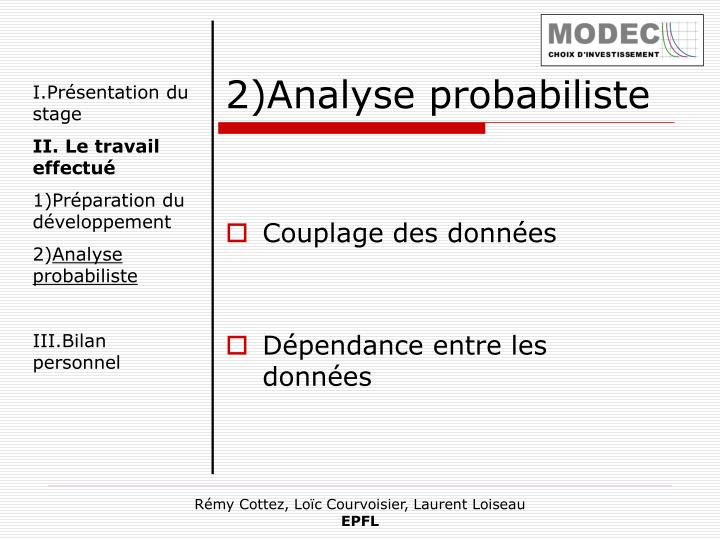 2)Analyse probabiliste