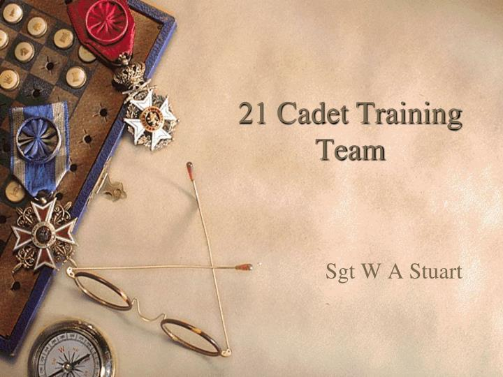 21 cadet training team