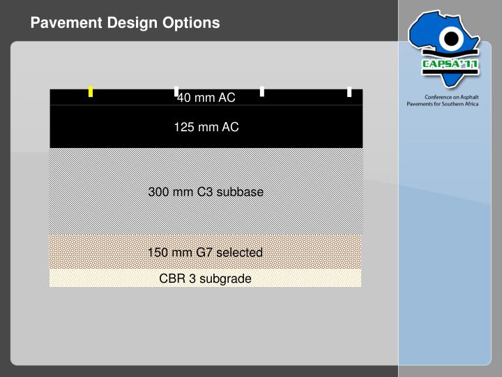 Pavement Design Options