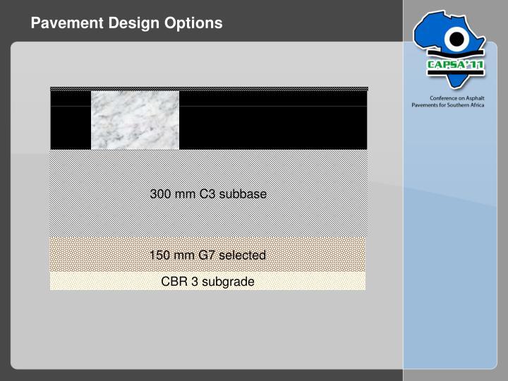 Pavement Design Options