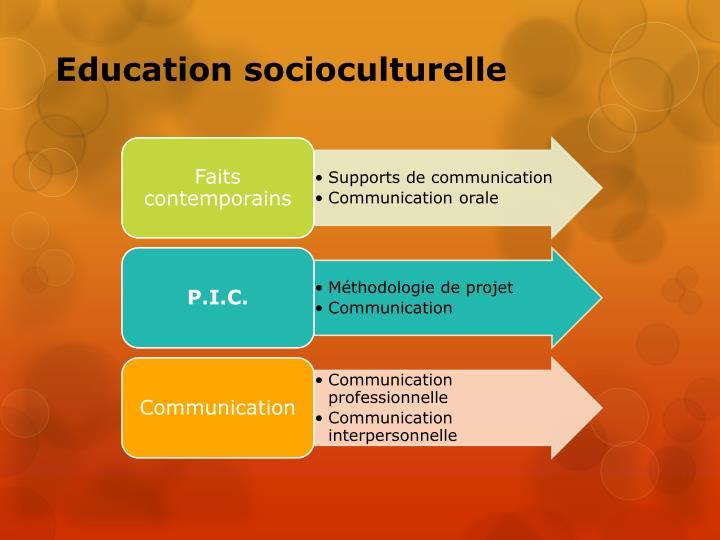 Education socioculturelle