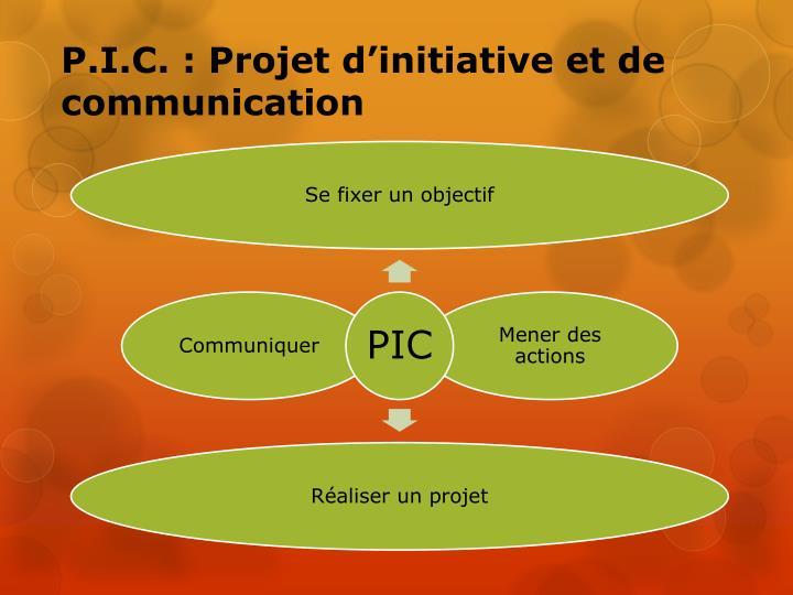 P.I.C. : Projet d'initiative et de communication