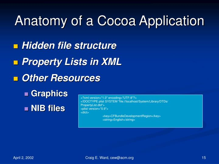 Anatomy of a Cocoa Application