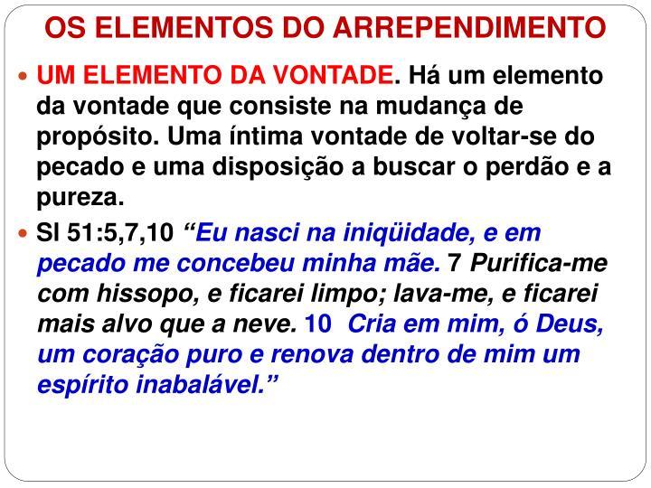 OS ELEMENTOS DO ARREPENDIMENTO