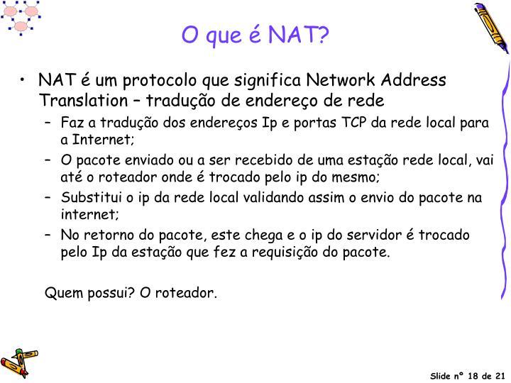O que é NAT?