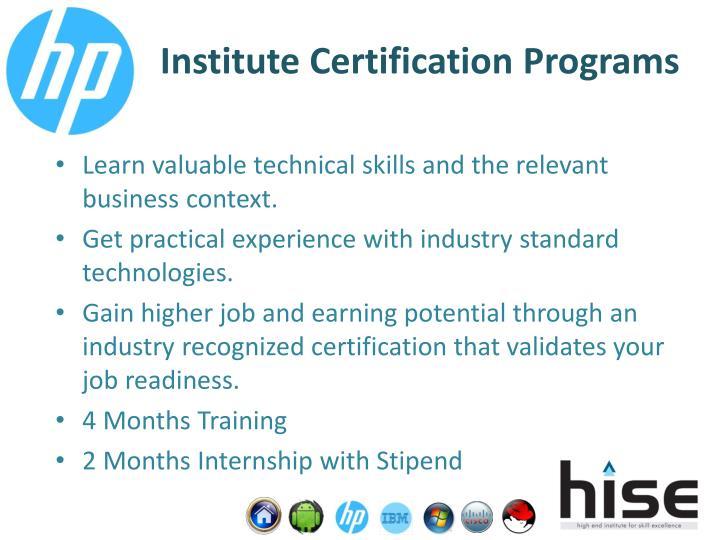 Institute Certification