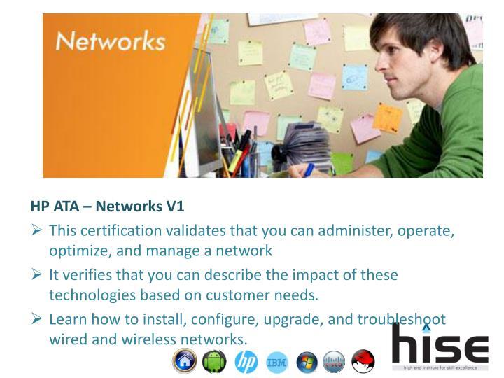 HP ATA – Networks