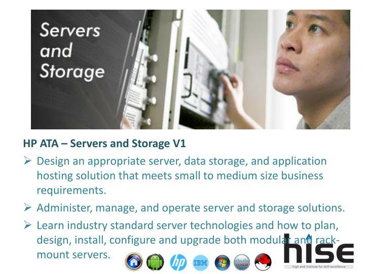 HP ATA – Servers and Storage