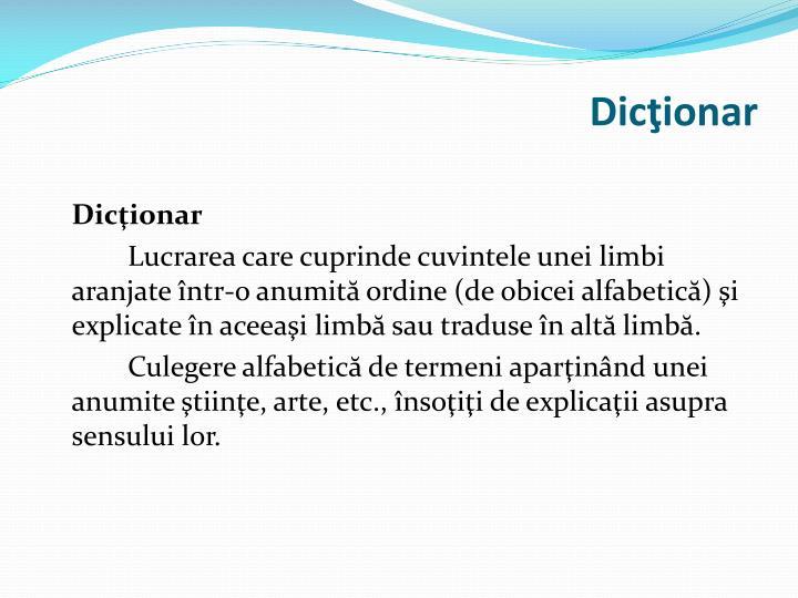 Dicţionar