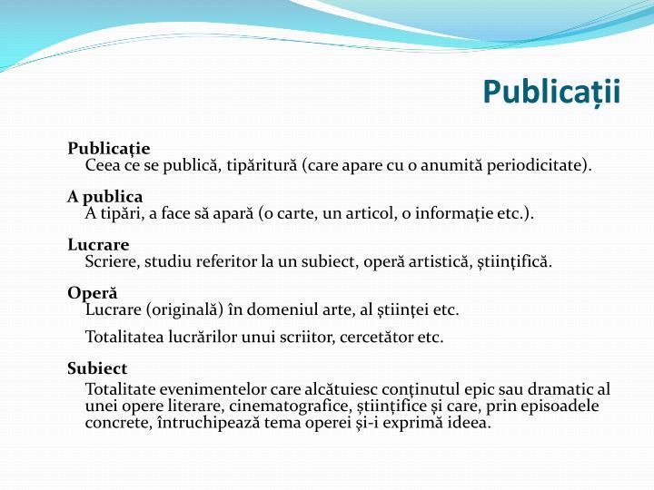 Publicații