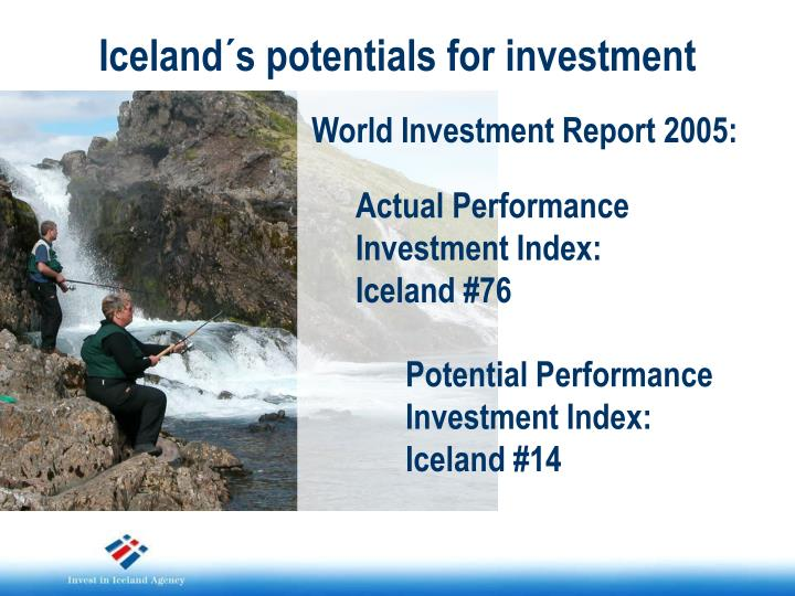 Iceland´s potentials for investment