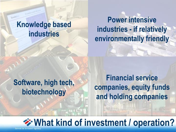 Knowledge based industries