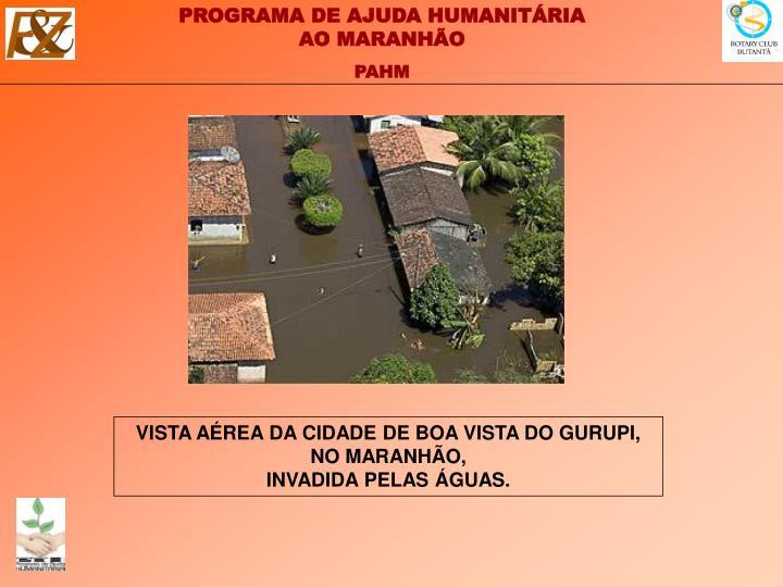 VISTA AÉREA DA CIDADE DE BOA VISTA DO GURUPI,