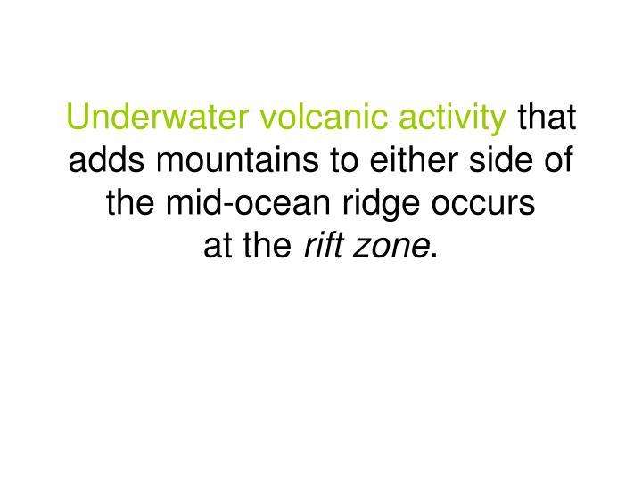 Underwater volcanic activity