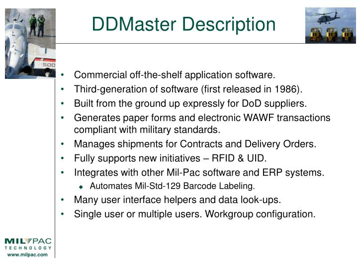 DDMaster Description