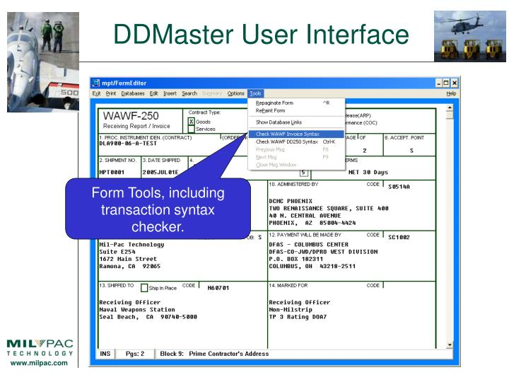 DDMaster User Interface