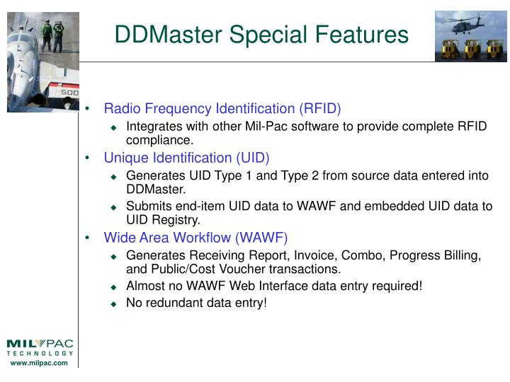 DDMaster Special Features