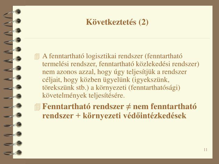 Következtetés (2)